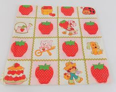 Vintage Strawberry Shortcake  Gift Wrap Wrapping Paper American Greetings