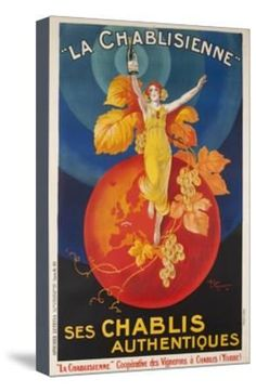 La Chablisienne, Ses Chablis Authentiques, French Wine Poster Giclee Print at Art.com