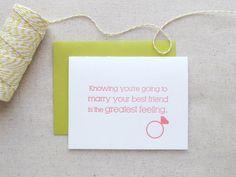 engagement letterpress card
