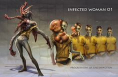 ArtStation - The Beginning of Infected : The Last of Us, Hyoung Nam Zombie Apocalypse Outfit, Apocalypse Art, Last Of Us, Alien Creatures, Fantasy Creatures, Arte Horror, Horror Art, Punk Genres, Scary Tales