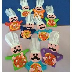 FREE-Chef-craft-idea- This page has a lot of free Chef craft idea for kids,paren… - DIY Selber Machen Preschool Cooking, Preschool Crafts, Preschool Teachers, Toddler Art, Toddler Crafts, Bible Crafts For Kids, Art For Kids, Pizza Kunst, Pizza Craft