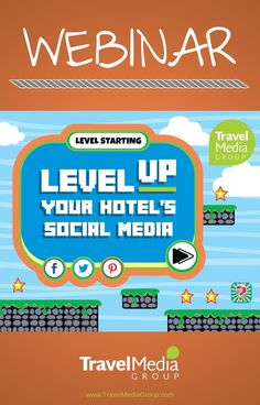 Tune into this webinar to power up your knowledge of how to grow your hotel's audience and reach the next level of social media optimization. Level Up, Social Media Marketing, Knowledge, Travel, Viajes, Destinations, Traveling, Trips, Facts
