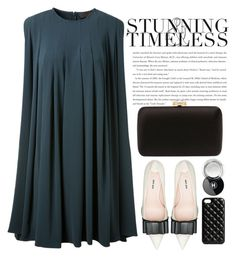 """Timeless"" by crblackflag ❤ liked on Polyvore featuring Miu Miu, Prada, The Case Factory, Chanel, MANGO, dressy and pleateddress"