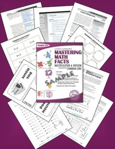 FREE Mastering Math Facts Multiplication and Division Sampler - 43 pages - includes several freebies! Math Resources, Math Activities, Mastering Math, Math Magic, Math Multiplication, Homeschool Math, Homeschooling, Third Grade Math, Math Classroom