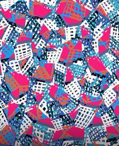 Pink grids - Sarah Bagshaw