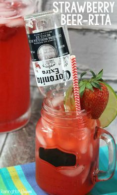 Strawberry Beer-rita - This is such a yummy drink recipe!