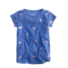 Girls' metallic flamingos tee - short-sleeve tees - Girls' knits & tees - J.Crew
