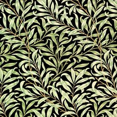 William Morris Willow, black background