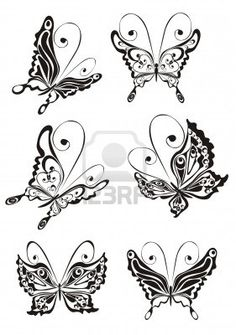 Butterfly silhouettes for applique and embroidery
