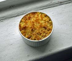 Cream corn with crumbs
