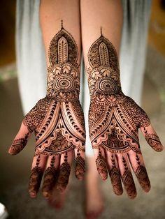 Arabic Bridal Mehndi Designs For Full Hands 2014