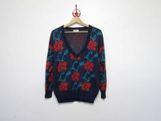 25 OFF STOREWIDE vintage rose sweater. by dirtybirdiesvintage, $34.00