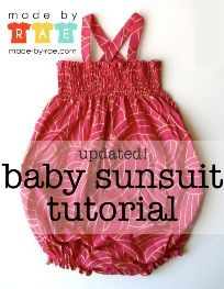 Tutorial: Baby sunsuit tutorial
