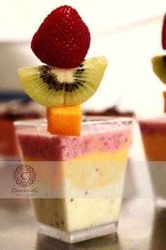Espuma de Verano. Ideal para los amantes de la fruta natural. Receta y creación original CARAMEL.