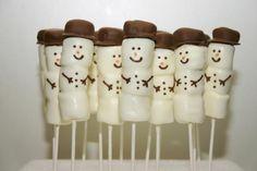 Receita de Boneco de neve de marshmallow