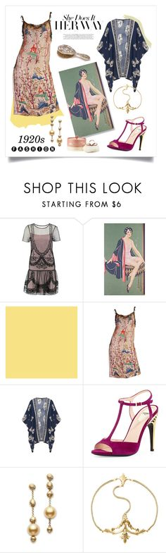 Roaring 20s by grrr8style on Polyvore featuring Fendi, Mikimoto, Naked Princess, Farrow & Ball and vintage