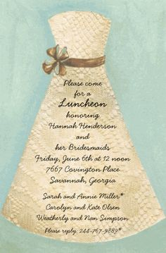 Lace Bride Party Invitations by Picture Perfect - Invitation Box