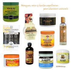 Produits capillaires pour cheveux naturels.