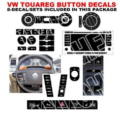 Cool Amazing 2004–2009 VW Volkswagen Touareg Assortment Button Repair Stickers Decals 2017 2018 Check more at http://fords.ga/amazing-2004-2009-vw-volkswagen-touareg-assortment-button-repair-stickers-decals-2017-2018/