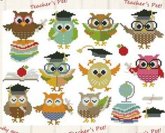 10 Cross Stitch Patterns for Back-to-School Season