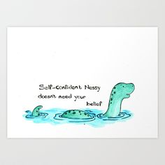Loch Ness Art Print by Jo Sharp  https://www.facebook.com/josharpartdesign                                                                                                                                                                                 More