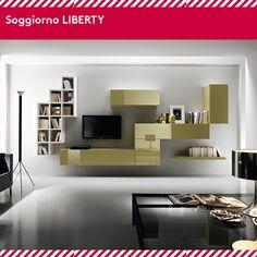Come arrederesti il tuo soggiorno? Scopri Liberty, il soggiorno dal design innovativo e glamour! Il bello del design by Hartè.