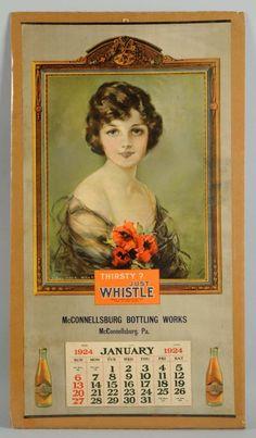 1924 WHISTLE Soda Pop Calendar