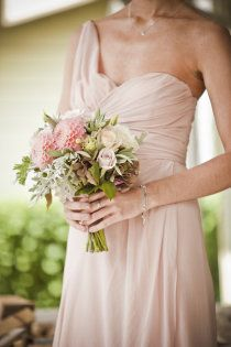 Love this bridesmaid dress style, long and Soft