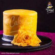 Pastel de torre con flor | thecakeart.com