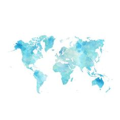 Watercolor world map tattoo ideas pinterest watercolor artsy x354 q80g 354354 gumiabroncs Images