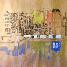 Sketch #Amsterdam #watercolor #watercolour #painting #art #sketch Watercolor Sketch, Watercolour Painting, Painting Art, Paintings, Sketchbook Ideas, Urban Sketchers, Drawing Board, Watercolours, Sketching