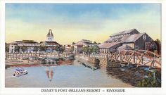 Keane's Picture Web Site - Walt Disney World Resorts - Port Orleans Disney Hotels, Disney World Resorts, Disney Vacations, Walt Disney World, Riverside Resort, Walt Disney Imagineering, Orlando Resorts, Vintage Disney, Postcards