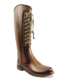 Look what I found on #zulily! Khaki Lace-Up Zitas Boot by Mi.iM #zulilyfinds