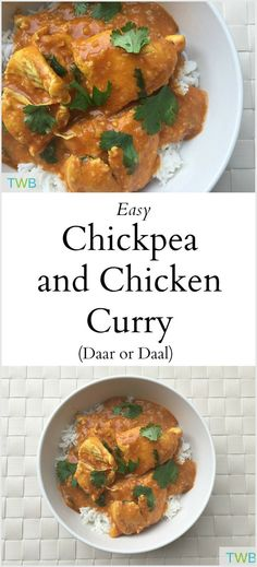 Chickpea and Chicken Curry (Daar) (dinner recipes, Indian food)