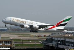 Emirates Airlines Airbus A380 A6-EEA at London Heathrow (LHR) [Credit: flcriminal]