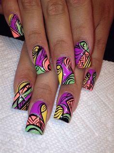 Color Pop Nail Art #nailart #nails #naildesigns #cutenails #colorpop