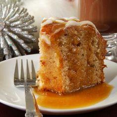 Hot Maple Syrup Apple Cake