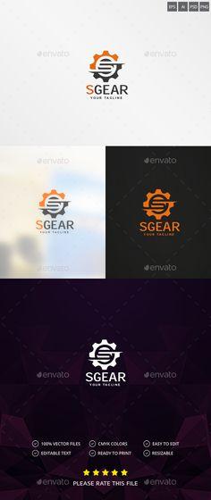 Gear Logo Design Template - Vector Abstract Design logo Template PSD, Vector EPS, AI Illustrator. Download here: https://graphicriver.net/item/gear-logo/9700772?ref=yinkira