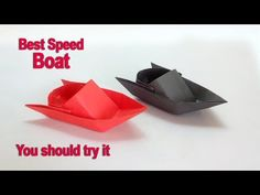 Paper boat How to make a paper speed boat – DIY easy origami paper boat making instructions - YouTube