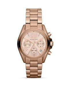 Michael Kors Mini Bradshaw Chronograph Watch in Rose Gold, 35mm