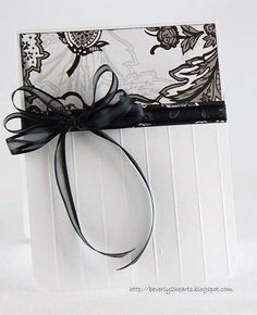 Black and white card- beautiful! card idea, white card, wedding cards, sympathy cards, wedding ideas, black white, cards black and white, white weddings, embossed cards