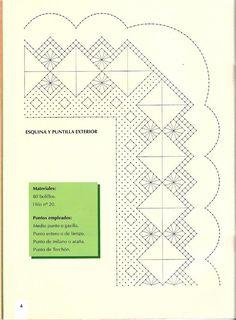 Labores de Bolillos 01 Bobbin Lace Patterns, Album, Crocheting, Picasa, Trapillo, Dots, Stencils, Bobbin Lace, Dishcloth