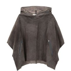 3.1 Phillip Lim Cropped Suede Poncho