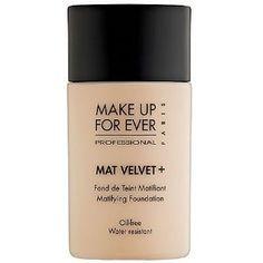 Makeup Forever Mat Velvet Foundation!  I love love love this foundation.....I recommend this foundation it works for me. AVG