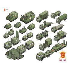 The Norwegian Army #illustration #infographic #vector #isometric #oslo