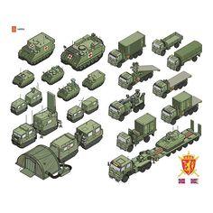 The Norwegian Army #illustration #infographic #vector #isometric #oslo