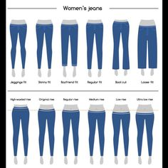 Jeans Size Charts: THIS is How Jeans Fit Perfectly! For Men & Women Jeans Sizing Chart: This is how jeans fit perfectly! For men & women Fashion Terminology, Fashion Terms, Fashion Mode, Types Of Fashion Styles, Classy Fashion, Fashion Vintage, Womens Fashion, Jeans Fit, Jeans Style