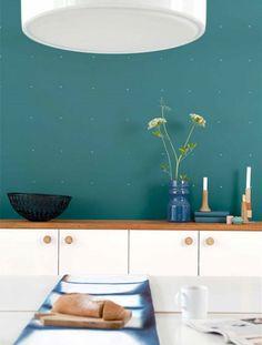 ... Groen & Blauw – Flexa Muurverf Teal in de keuken - Meer Kleur