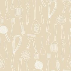 Bistro 750 Silhouettes 33' x 20.5'' Food and Beverage Foiled Wallpaper