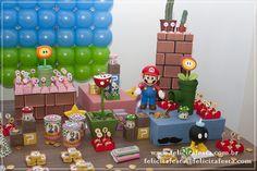 Festa Mario Bros: Luigi do Juan Carlos e Peach da Nicole